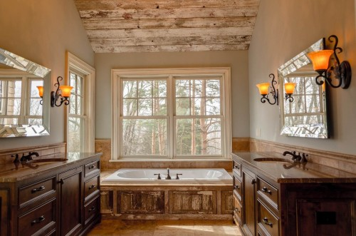 white-bathtub-and-double-side-wooden-sink-and-brownish-wall-bathroom.jpg