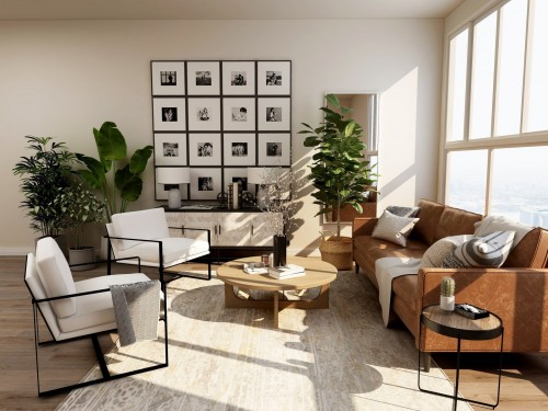 green-potted-plant-on-table-and-two-white-chair-and-brown-lader-sofa-near-transparent-mirror-wall.jpg