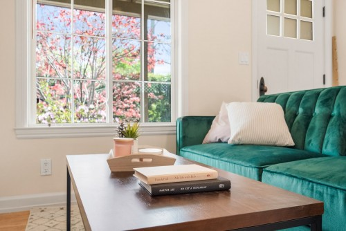 brown-wooden-table-with-books-on-top-and-whiite-pillows-on-green-sofa-near-glass-window.jpg